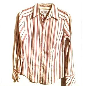 Ann Taylor LOFT Dress Shirt Bell Cuff